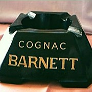 Cognac Barnett Advertising Ashtray Circa 1930's