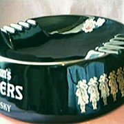 HUGE Seagram's 100 Pipers Advertising Ashtray