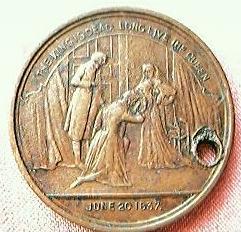 Antique Queen Victoria Medallion 1897
