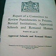 1951 British Punishment in Prisons Committee Report