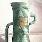Art Deco  English Pottery Vase Circa 1920's-30's