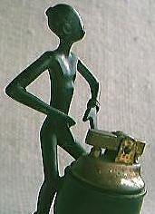 Retro Native Black Man Figural Lighter