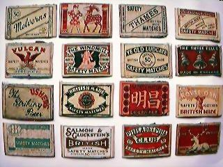 1930's Match Box Label Lids