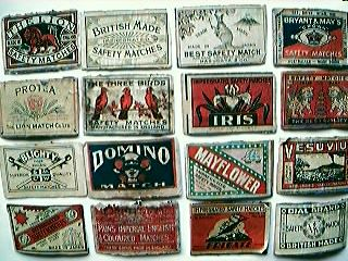 1930's Match Box Labels
