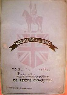 "Vintage DE RESKE Cigarette Cards ""Soldiers of The King"""
