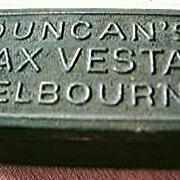 "Victorian ""Duncans""  Melbourne Wax Vestas Tin"
