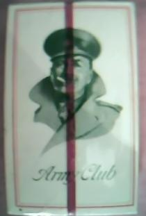 Vintage  Army Club Cigarettes Full Packet 10's