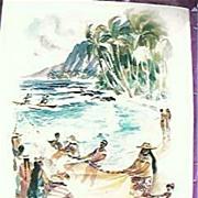 Vintage MATSON LINES Shipping Menu Hawaii1960