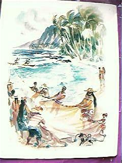 Vintage MATSON LINES Shipping Menu Hawaii1960