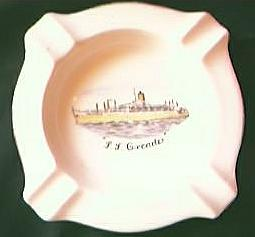 S.S. Orcades P & O Shipping Line Souvenir Ashtray.