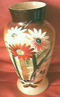 Gorgeous Vintage Hand Painted Glass Vase