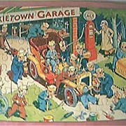 "Vintage 1950's Jig Saw ""Pixietown Garage"""