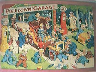 """Vintage 1950's Jig Saw """"Pixietown Garage"""""""