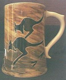 Vintage ASTON  Australian  Aboriginal Designs Pottery Tankard