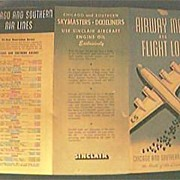 Vintage Chicago & Southern Airlines Advertising Pamphlet Circa late 1940's