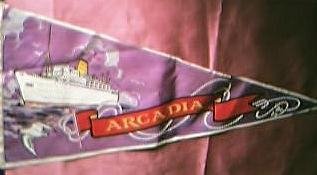 Shipping Pennant Souvenir S.S. ARCADIA