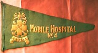 US NAVY World War Two Mobile Hospital No 4 Pennant