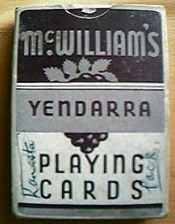 "Vintage Wine Company Advertising Playing Cards"" McWilliams Yendarra Sherry"""