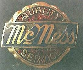 "Vintage Buttonhole Advertising Badge  ""McNess Service"""