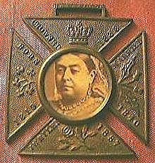 Antique Queen Victoria 50 Years Rule Commemorative Pendant