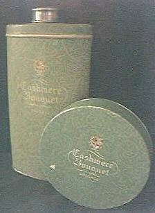 """Vintage Colgates """"Cashmere Bouquet"""" Talcum & Face Powder Set Circa 1950's-60's"""