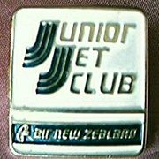 Vintage Air New Zealand Junior Jet Club Advertising Badge