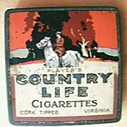 "Vintage Australian ""Players Country Life"" Cigarette Tin"