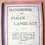 Vintage Handbook of Fijian Languages 1934-1936