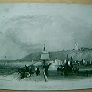 "Vintage Engraving ""Folkestone""  February 6th 1841"