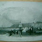 "Vintage Engraving ""Folkestone""  February 6th 1841"