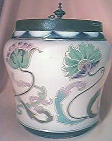 "Beautiful Victorian  Period ""Carltonware"" Biscuit Barrel."