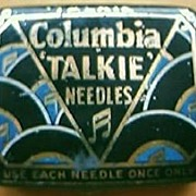 "Vintage Columbia ""TALKIE"" Gramophone Needles Tin"