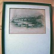"Engraving ""Shrewsbury With The English and Coleham Bridges"""