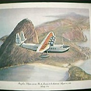 1984 Pan Am Commemorative Menu Cover