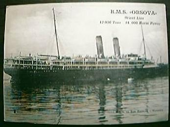 Vintage Shipping Post Card .RMS. ORSOVA