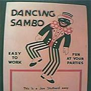 "Black American 1920's Vintage ""Dancing Black Sambo"" Puppet."