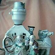 Gorgeous Little Vintage German Porcelain Lamp Base