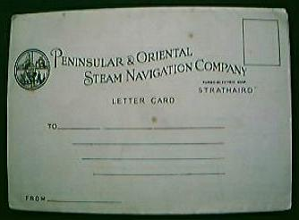 "Vintage Shipping Letter Postcard ""S.S. Strathaird"" Circa 1930's"