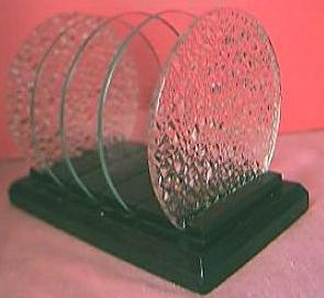 ART DECO Wood and Glass Toast Rack Circa 1930's-40's