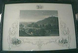"Antique American Engraving ""Monte Video The Residence of D. Wadsworth Esq."" Circa Early - Mid 1800's"