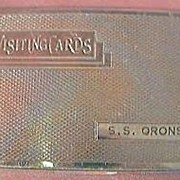 Vintage S.S. Oronsay P & O Lines Souvenir Visiting Card case