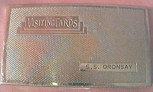 Vintage S.S. Oronsay P & O Lines Souvenir Visiting Card case