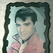 Elvis Presley Large Screen Printed Plaque