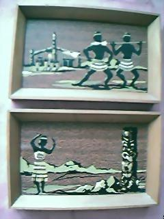 Two Small Maori Paintings Circa 1950's