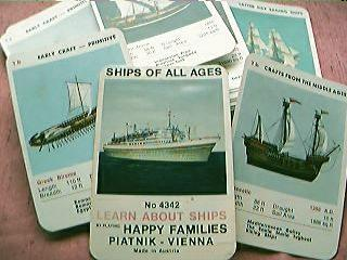 "Ships of The Ages ""Happy Families"" Playing Cards 1960's"