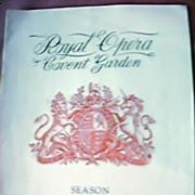 Vintage Royal Opera Covent Garden Program 1939