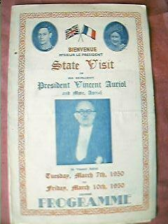State Visit to England of President Vincent Auriol 1950