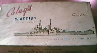 Vintage Caley's Chocolate box  Commemorating 1949 visit H.M.S. Vanguard