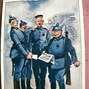 WW1 Making Fun of The German's Postcard