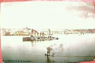 British Navy Postcard H.M.S. Euryalus